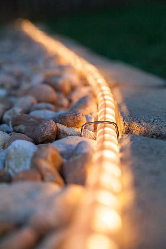 Rope Lights to Highlight Walkway