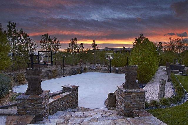Backyard Basketball Court Ideas with Stoneworks