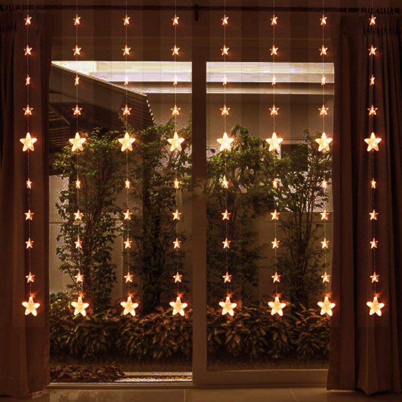 Rope Lights Curtain