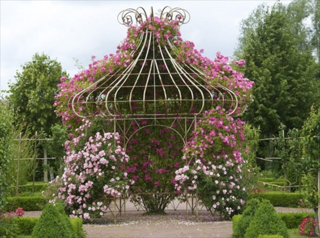Charming Pavilion with Blooms