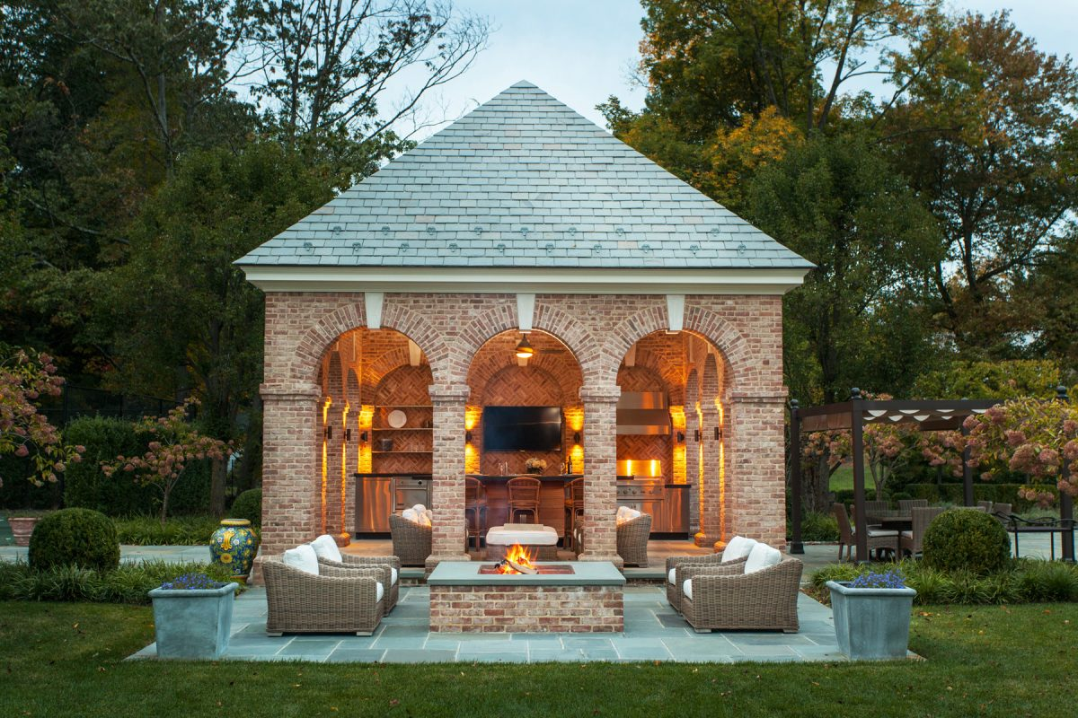 Stone Pavilion with a Classic Flair