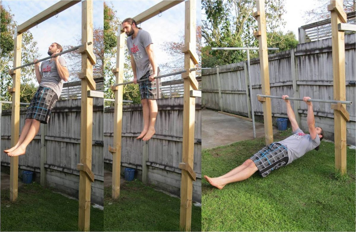 3 Levels Backyard Pull Up Bar