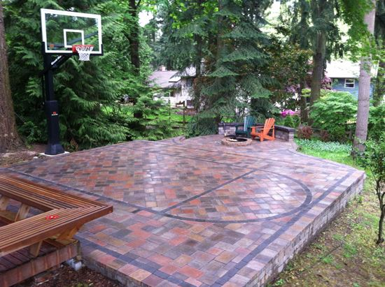 Patio Court with Tile Flooring
