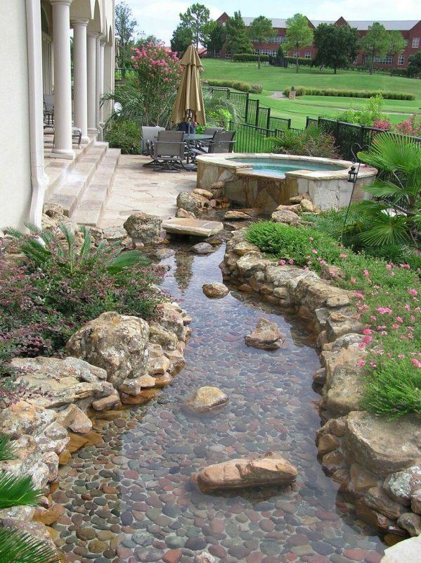 Calming Creek in the Backyard