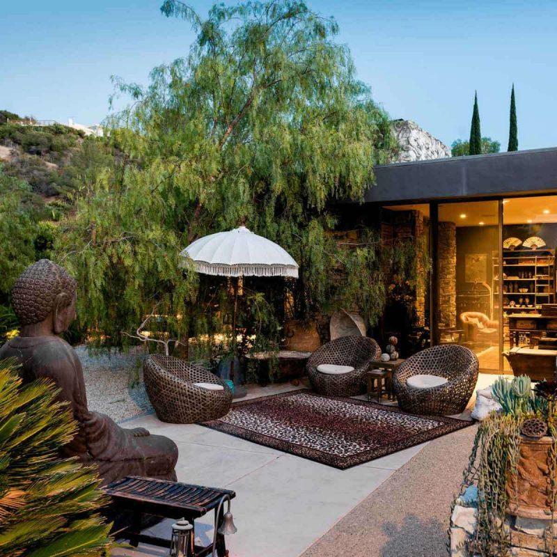 modern backyard house asia
