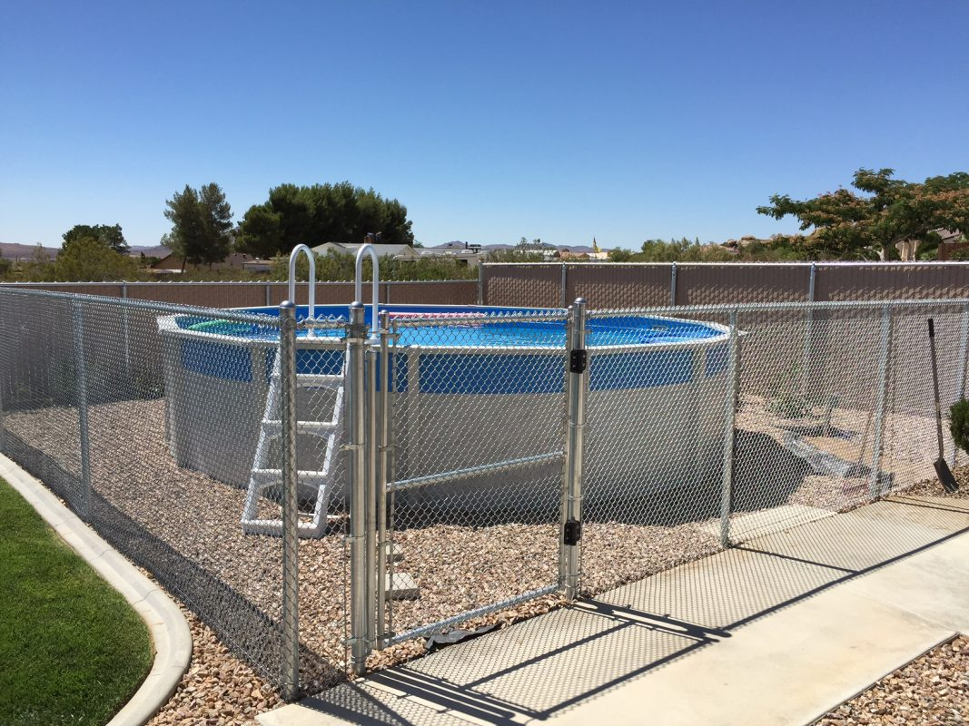 Chain Fence for Above-Ground Pool