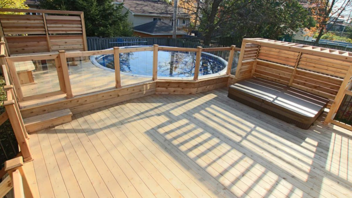 Clear Above-Ground Pool Fence
