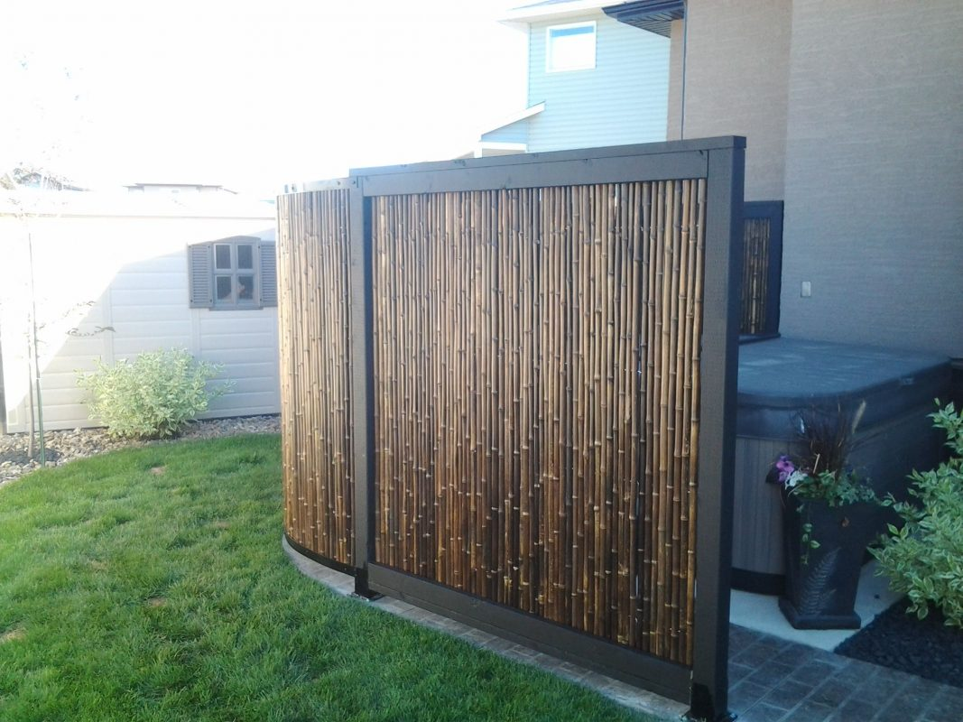 bamboo fence frame