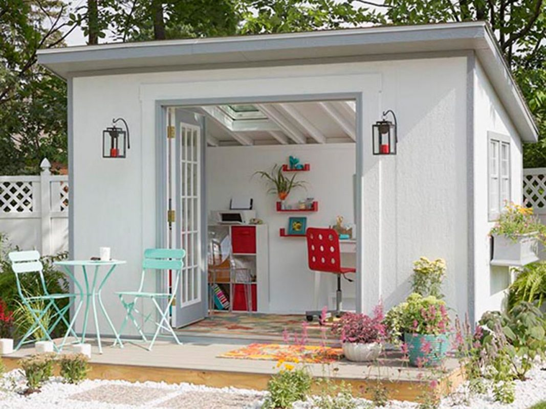 Feminine Backyard Office Idea