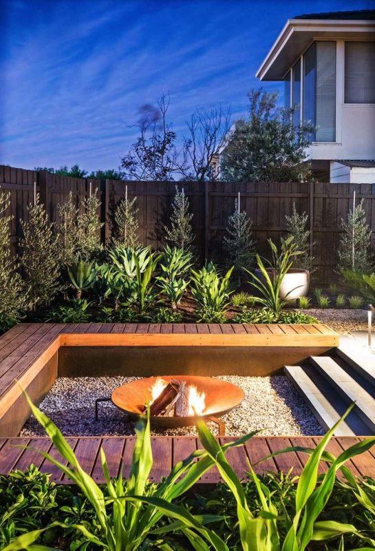 modern backyard fire pit feature ideas