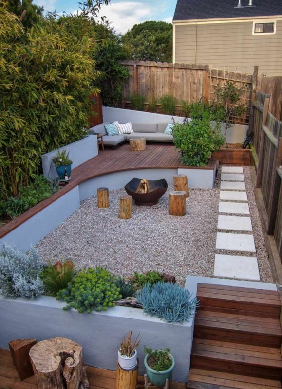modern backyard guest house