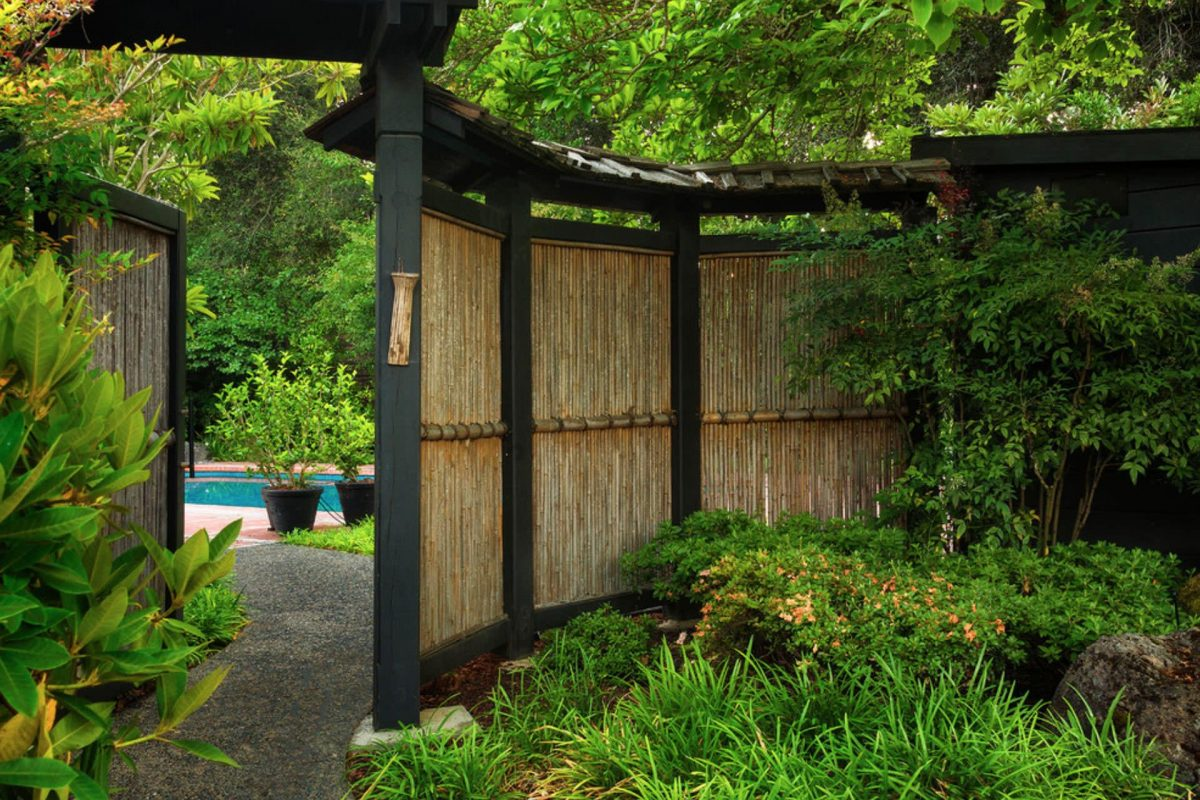 bamboo fence japanese home
