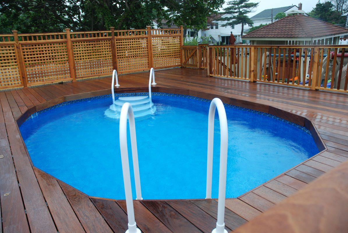 Lattice Trellis Panel for Pool Fence