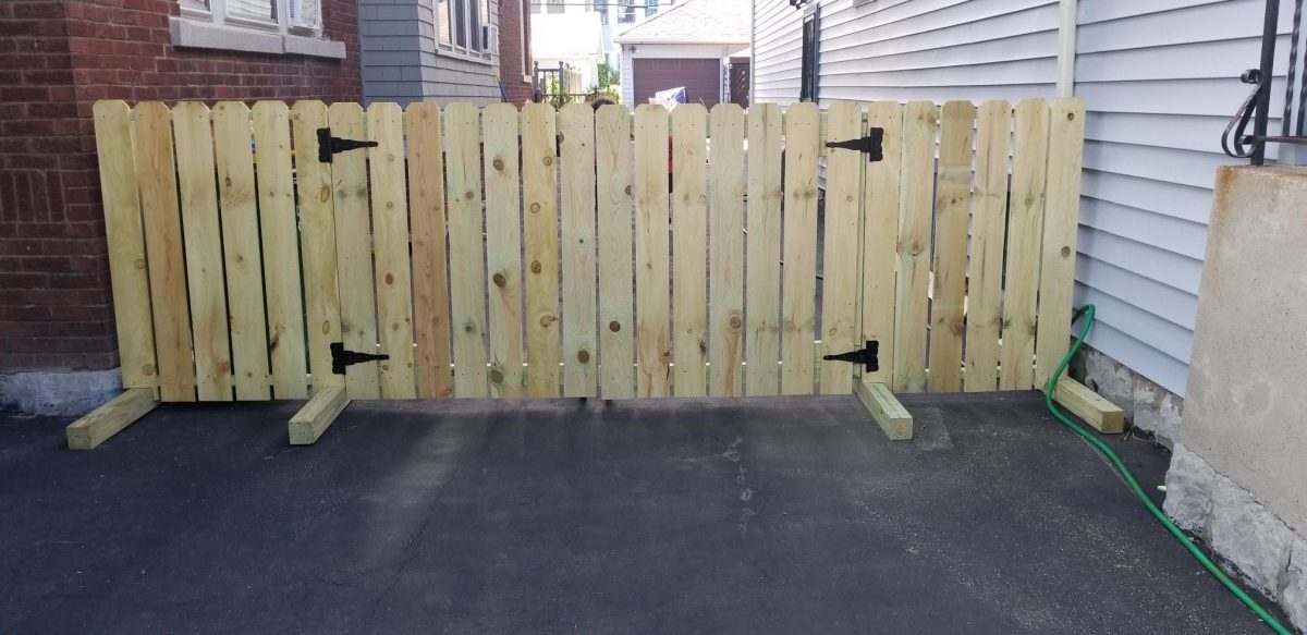 temporary fencing construction