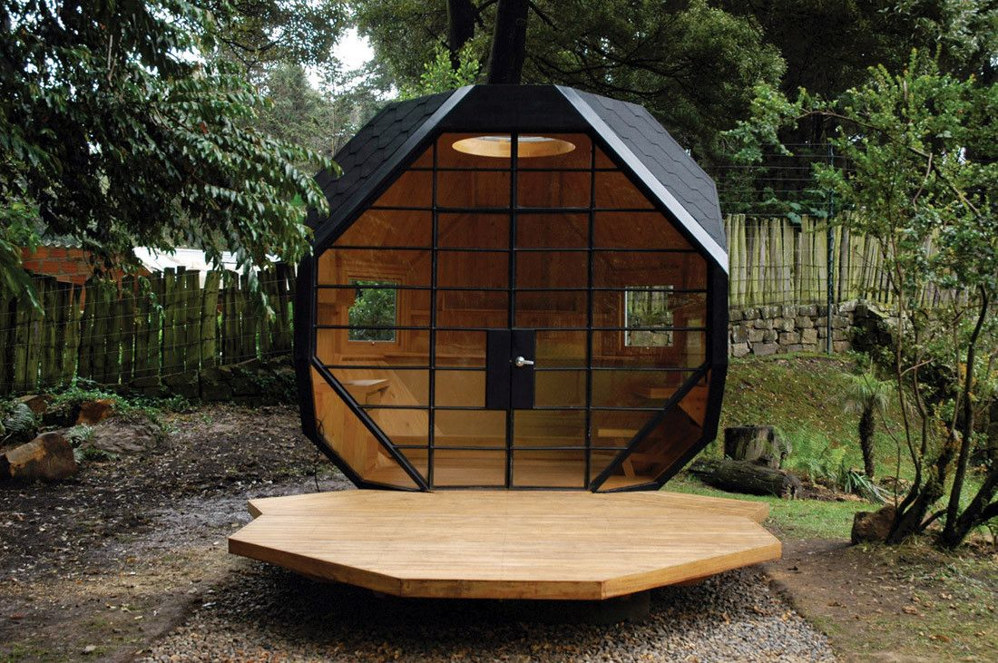 Polyhedron Backyard Office Idea