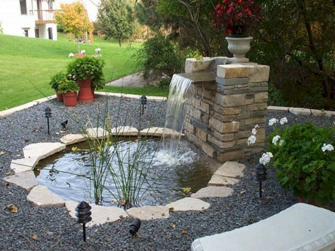 Rustic Waterfall Duck Pond