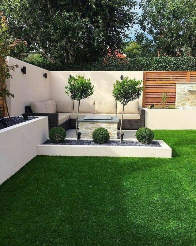 modern backyard furniture