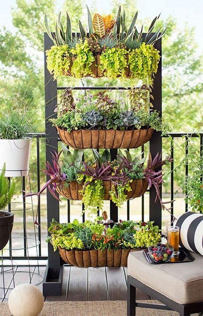 deck garden woven flower