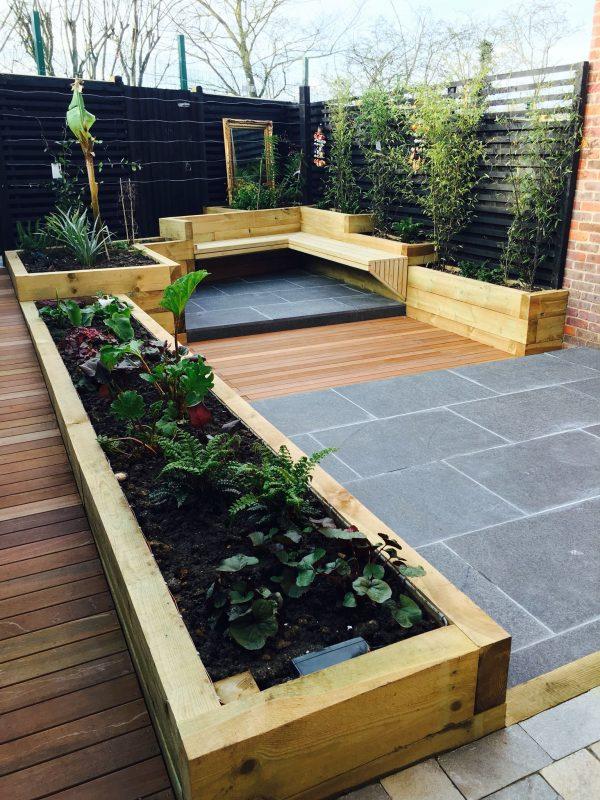 modern backyard vegetable garden