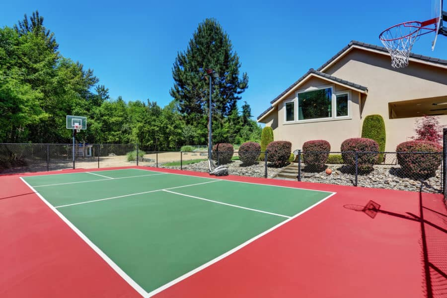 Bold Tones of Basketball Court