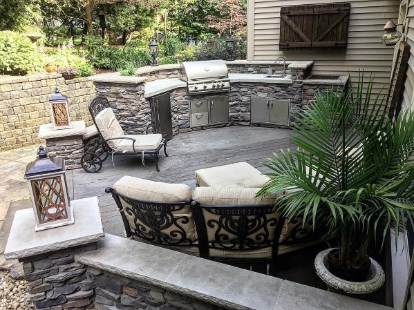 small backyard grill patio ideas