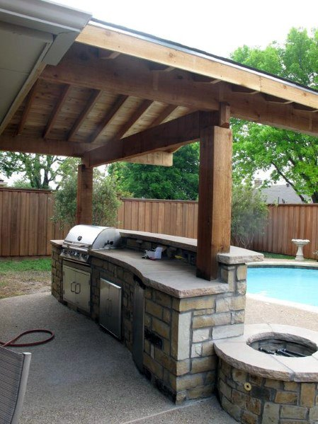 outdoor pool kitchen events