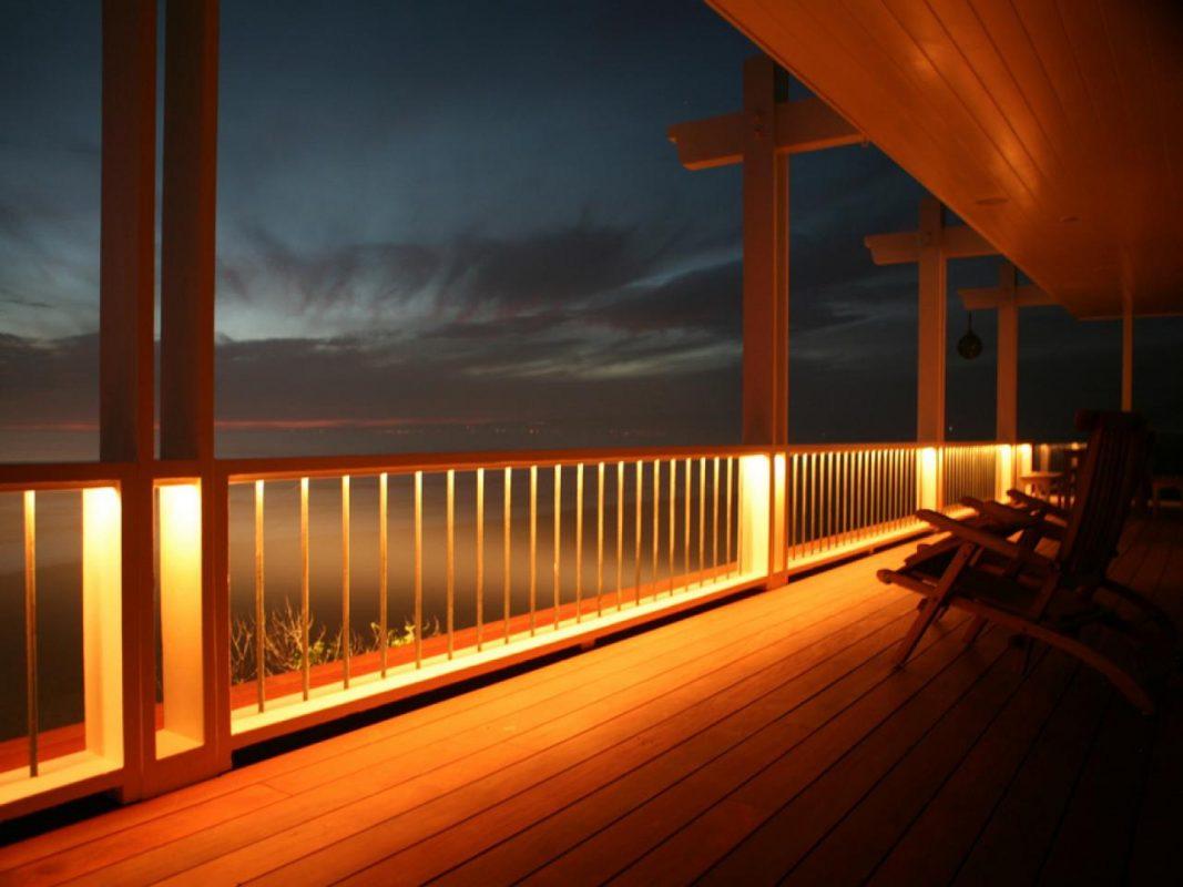 Deck Railings underneath Rope Lights