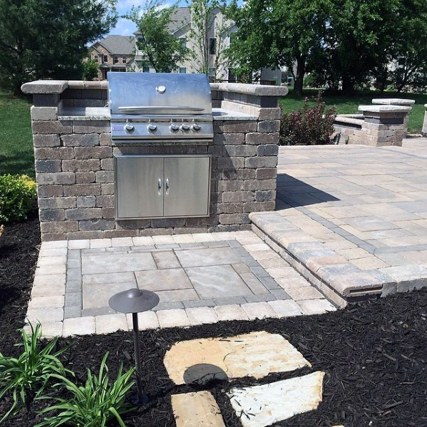 paver stone outdoor kitchen