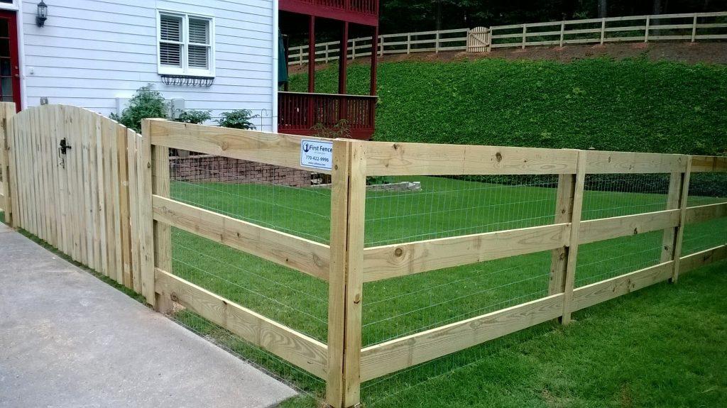 horse fence natur cedar