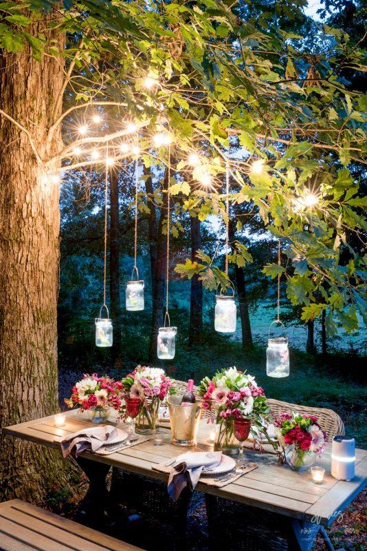 Rope Lights for Romantic Dinner