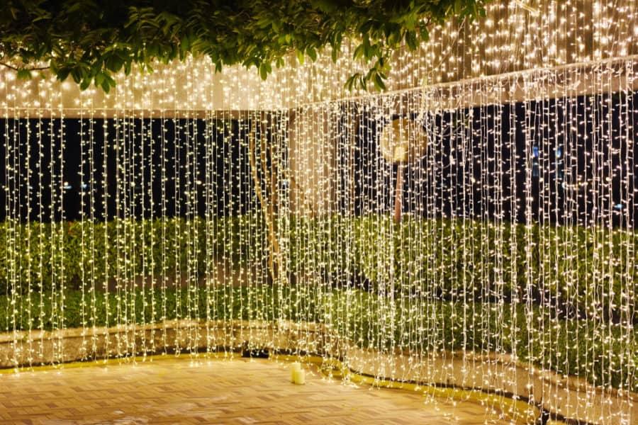 String Lights Curtain