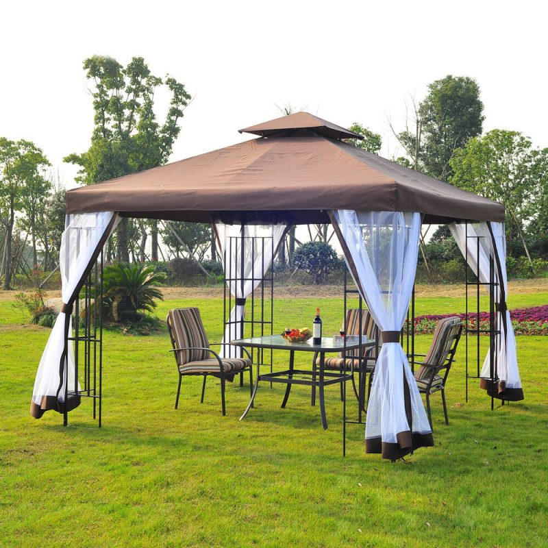 Metal Pavilion with a Canvas Top