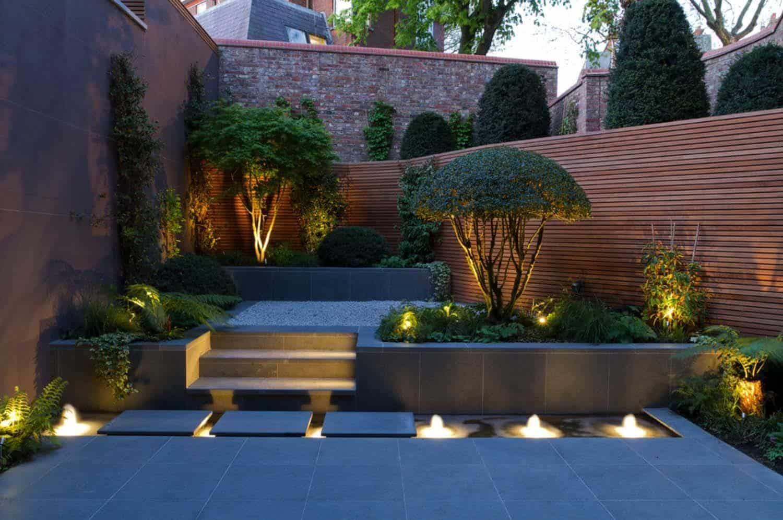 modern backyard porch