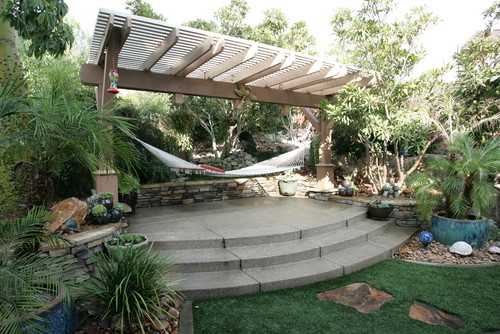 hammock tropical garden