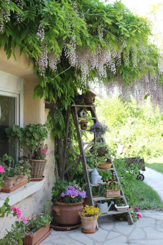 deck garden village style
