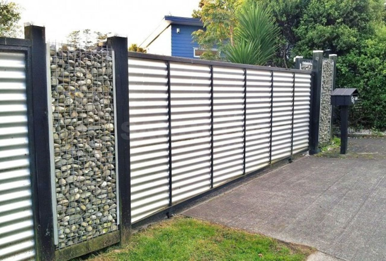 Gabion and Corrugated Iron ideas