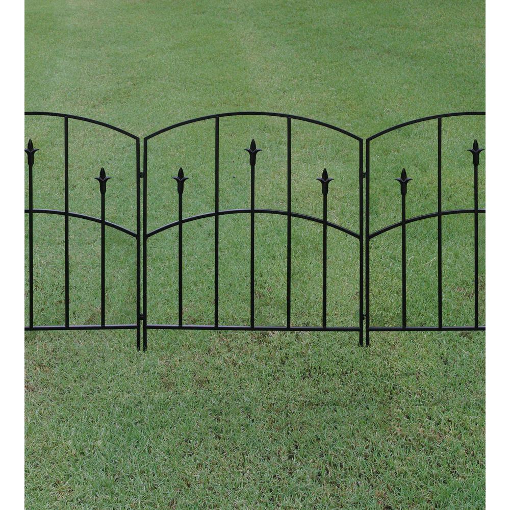steel garden fence ideas